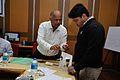 Shaik Jeelani Saheb and Tapas Kumar Moharana - Art of Science - Workshop - Science City - Kolkata 2016-01-08 9020.JPG