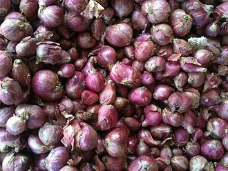 "Shallot - Shallots are called ""small onions"" in South India and are used extensively in cooking there."