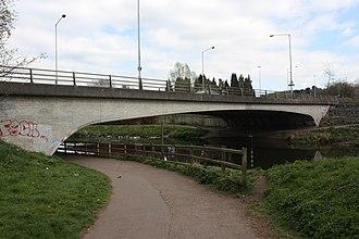 A55 road (Northern Ireland) - The A55 crossing the Lagan at Shaw's Bridge