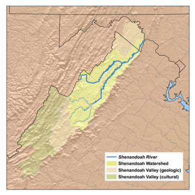 A map of the Shenandoah Valley Shenandoah watershed.png