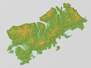 Shikotan - Image: Shikotan Relief Map, SRTM 1