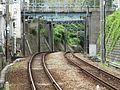 Shintetsu Nishisuzurandai Station platform - panoramio (4).jpg