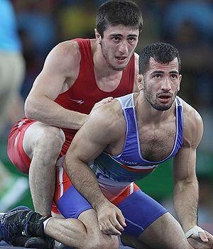Shmagi Bolkvadze - Bolkvadze (left) at the 2016 Olympics