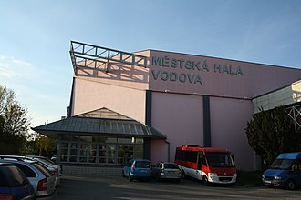 2010 FIBA World Championship for Women - Image: Sideview of City gym Vodova in Brno, Brno District