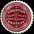 Siegelmarke Direktion der Knaben-Volks- und Bürgerschule in Kratzau W0308979.jpg