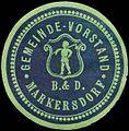Siegelmarke Gemeinde-Vorstand Markersdorf W0321162.jpg