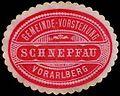 Siegelmarke Gemeinde-Vorstehung Schnepfau - Vorarlberg W0260977.jpg