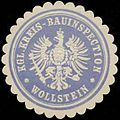 Siegelmarke Kgl. Kreis-Bauinspection Wollstein W0331795.jpg