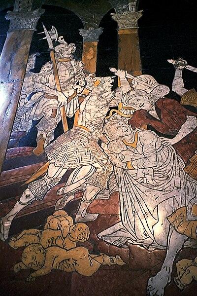 posadzka w katedrze w Sienie - rzeź niewiniątek