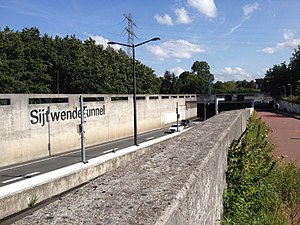 N14 expressway (Netherlands) - Entrance to the Sijtwende Railway tunnel.