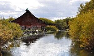 Burns, Oregon - Silvies River east of Burns along Oregon Route 78