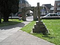 Simple cross outside St George the Martyr, Waterlooville - geograph.org.uk - 1307735.jpg