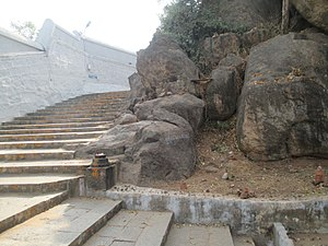 Padalathri Temple - Steps leading up the hill to reach the Narasimha temple.