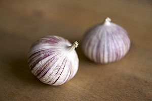 Single clove garlic.
