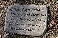 Singleton Family Cemetery, Cast Concrete Marker.JPG