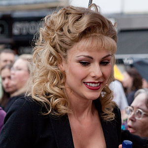 Siobhan Dillon - Siobhan Dillon, following her performance as Sandy from the musical Grease, at West End Live 2010.