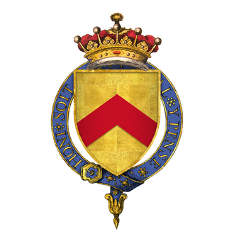 Hugh de Stafford, 2nd Earl of Stafford - Sir Hugh de Stafford, 2nd Earl of Stafford coat of arms: Or, a chevron gules