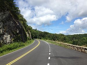 Skyline Drive - Skyline Drive northbound at the Indian Run Overlook