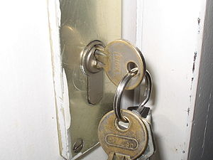 Keys in Door Lock