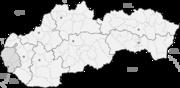 Bratislava auf der Karte von Slowakei
