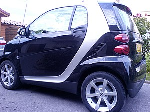 Rear-engine design - Smart Fortwo's three-cylinder engine officially sits behind the rear axle.