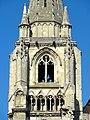 Soissons (02), abbaye Saint-Jean-des-Vignes, abbatiale, clocher sud, étage de beffroi, vue depuis l'est.jpg