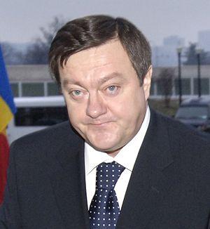 Romanian politician Sorin Frunzăverde, cropped...