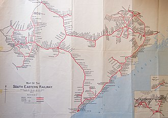 South Eastern Railway zone - Stations of the South Eastern Railway when the South Eastern Railway was created