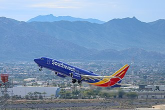 Phoenix Sky Harbor International Airport - A Southwest 737-800 departing PHX