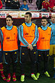 Spain - Chile - 10-09-2013 - Geneva - Koke, Alvaro Negredo and David Villa.jpg