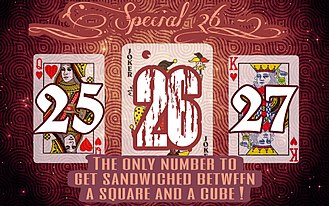 26 (number) - Poster designed to depict the speciality of the number 26