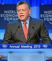 Special Address H.M. King Abdullah II Ibn Al Hussein World Economic Forum 2013 (cropped).jpg