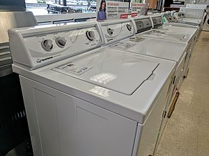 Speed Queen - Image: Speed Queen washers + dryers in a store