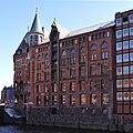 Speicherstadt (Hamburg-HafenCity).Block O.Fleetseite.ajb.jpg