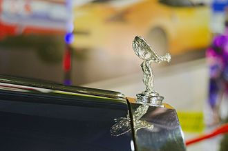 "Rolls-Royce Silver Shadow - The side view of ""Spirit of Ecstasy"" on a Rolls-Royce 1972 Silver Shadow."