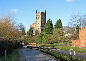 St. Mary's Church seen from Kidderminster Lock - geograph.org.uk - 1765076.jpg