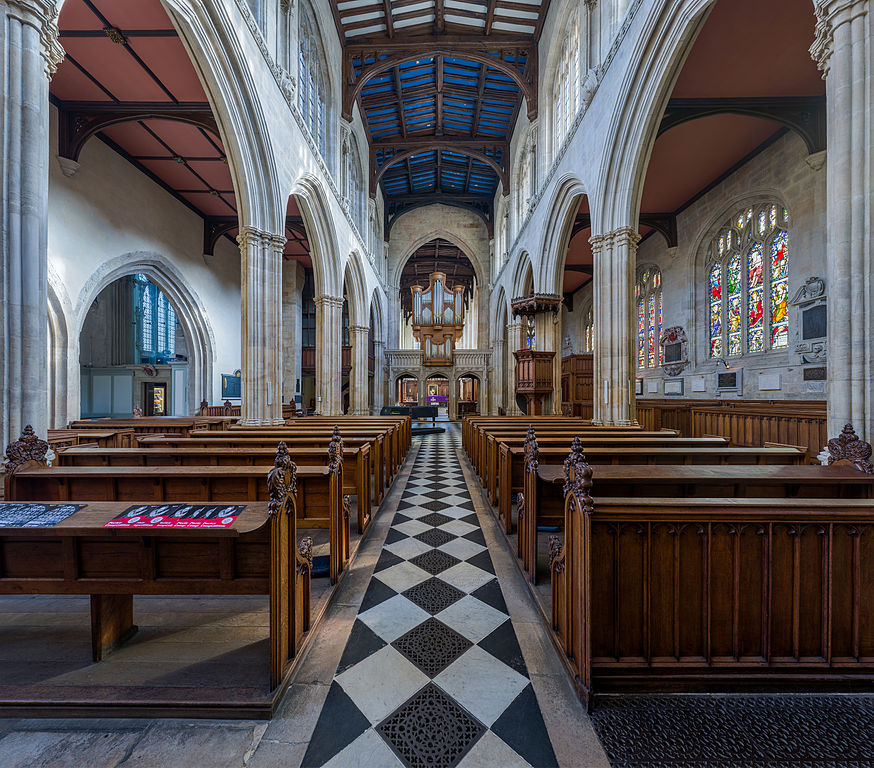 Intérieur de l'église St Mary's Church à Oxford. Photo by DAVID ILIFF. License: CC-BY-SA 3.0