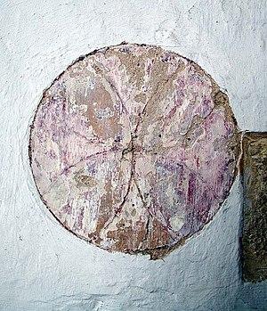 Consecration crosses - Cross in St Mary, Charlton-on-Otmoor