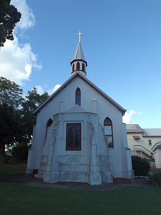 St Paul's Anglican Church, Cleveland - View from the Cross Street, 2015