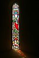 Stained Glass Window 2 In St Peters Church Old Woking Surrey UK.jpg