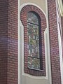 Stained glass window from outside, Saint Peter church, 2017 Dabas.jpg