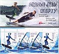 Stamp of Belarus - 2001 - Colnect 280991 - Booklet Aquatic Sports.jpeg