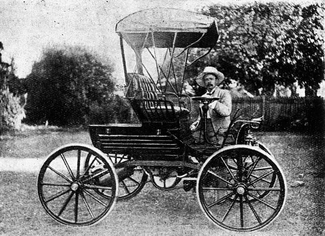 Who Invented The First Car >> File:StateLibQld 1 200339 1902 Trevethan, the first car made in Queensland..jpg - Wikimedia Commons
