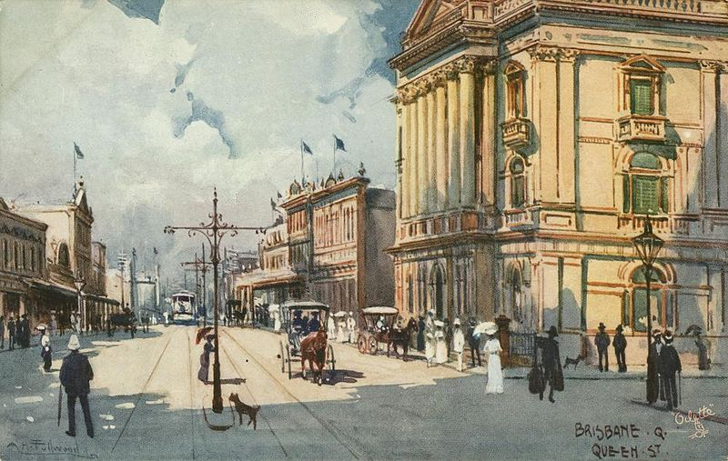 StateLibQld 1 243960 View of Queen Street, Brisbane, ca. 1895