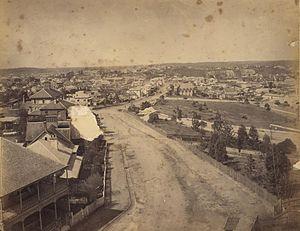 Wickham Terrace - The street in 1863