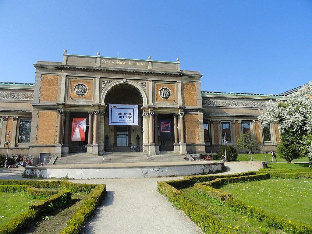 Batiment du musée des beaux arts de Copenhague ou SMK (Statens Museum for Kunst).