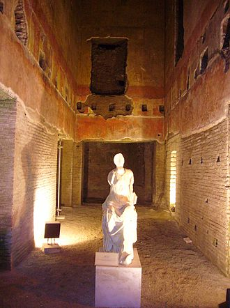 Domus Aurea - Statue of a muse in the newly reopened Domus Aurea