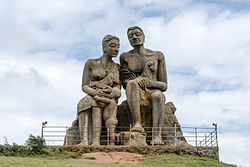 Statue of Kuruvan & Kuruthi at Ramakkalmedu