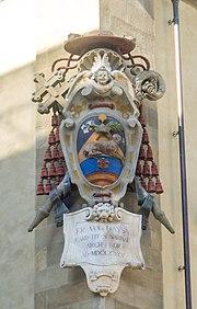 Stemma di Agostino Bausa, palazzo arcivescovile di Firenze
