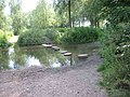 Stepping stones across the River Ver Drop Lane. - geograph.org.uk - 28022.jpg
